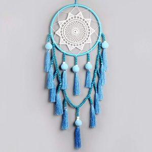 🆕NWOT Blue & White Boho Dream Catcher Home Decor